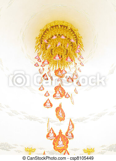 religion thai art Heaven - csp8105449