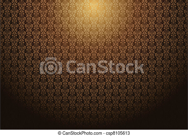 Vector Fading Damask Background - csp8105613