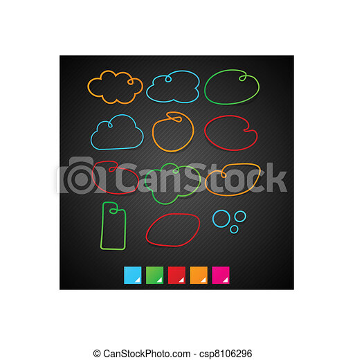 Speech notification paper frames. - csp8106296