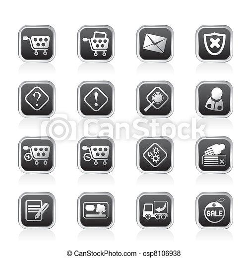 Online Shop Icons - csp8106938