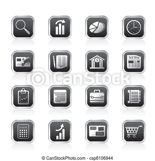 Business and Office Internet Icons - csp8106944