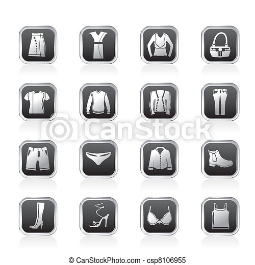 Clothing and Dress Icons - csp8106955