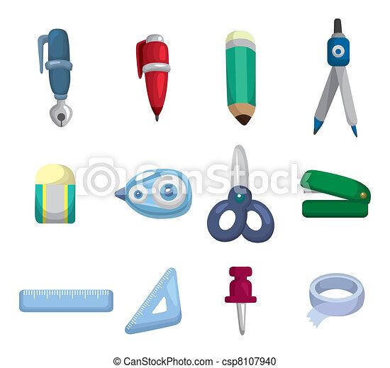 cartoon Stationery icon - csp8107940