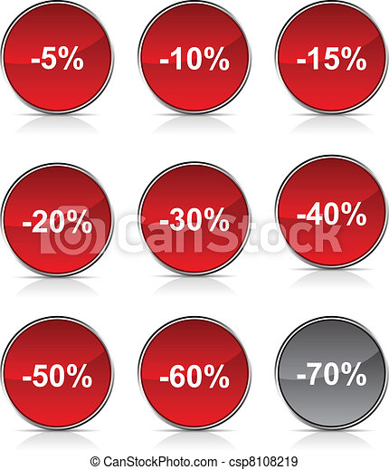 Discount  icons. - csp8108219