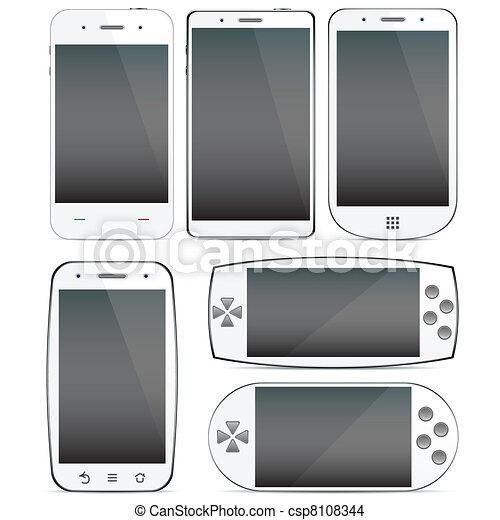 Set of smartphone concepts. - csp8108344
