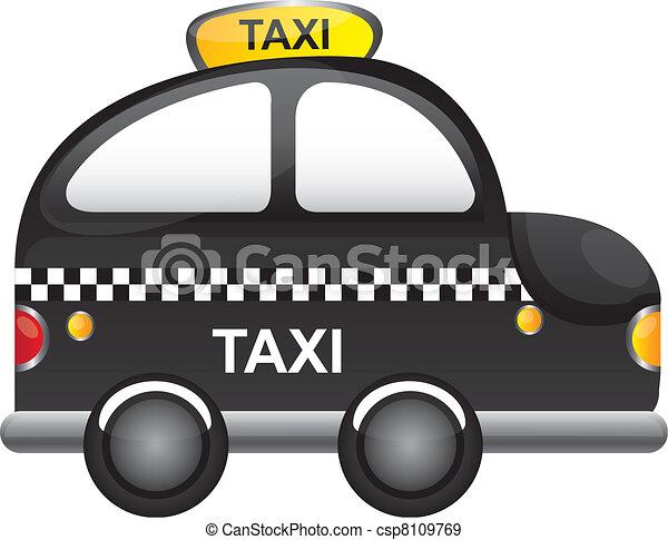 EPS Vectors of taxi vector - black taxi cartoon with ...
