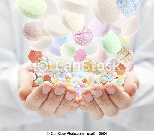 Colorful pills - csp8110504