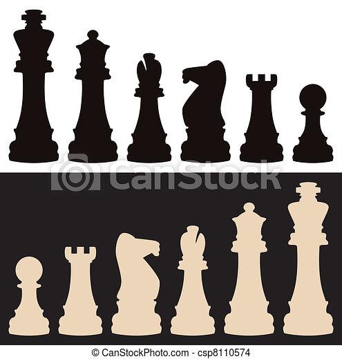 vector chess pieces - csp8110574