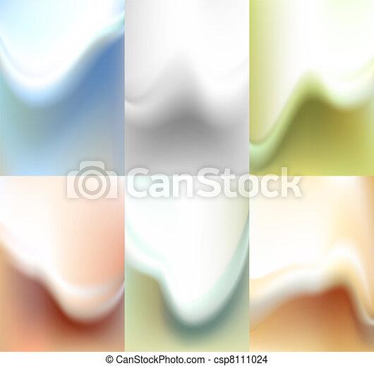 Set blur backdrop, watercolor background - csp8111024