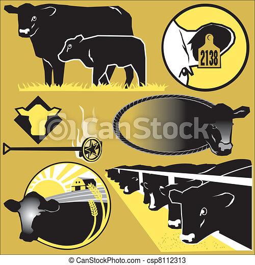 Cattle Clip Art - csp8112313
