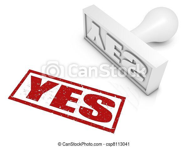Yes Rubber Stamp - csp8113041
