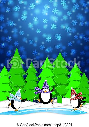 Dessin de patinage bleu hiver neiger trois glace sc ne csp8113294 recherchez des - Dessin patinoire ...