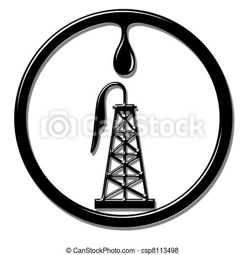Oil Well - csp8113498