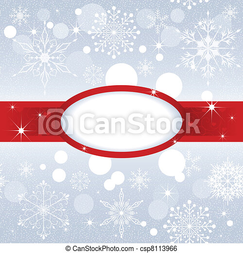Christmas snowflake on sliver color background - csp8113966