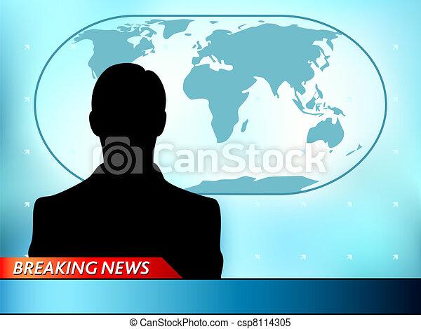 Breaking news tv - csp8114305