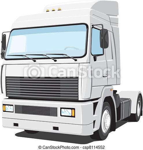 White truck - csp8114552