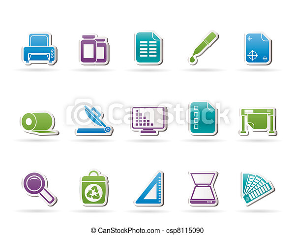 Commercial print icons - csp8115090