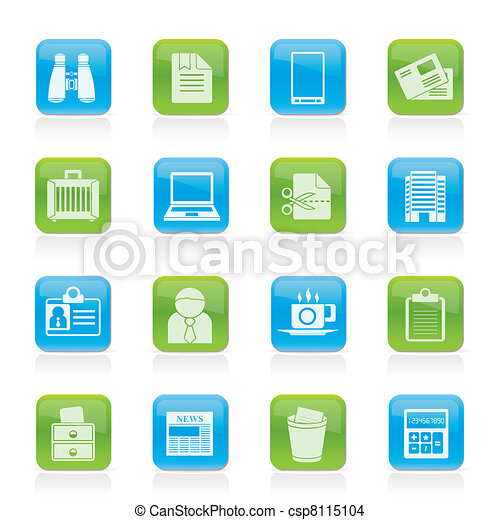 Business and office elements icons  - csp8115104