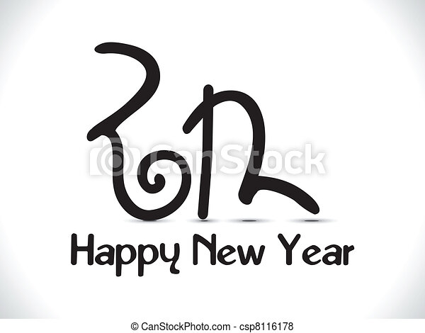 abstract new year text creative - csp8116178