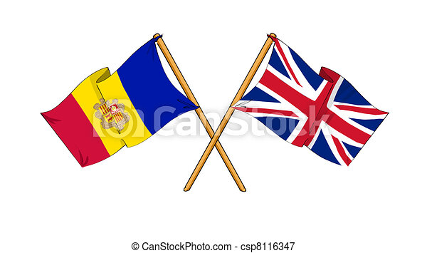 United Kingdom and Andorra alliance and friendship - csp8116347