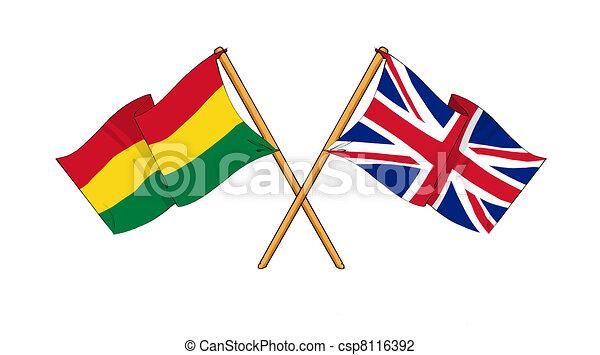 United Kingdom and Bolivia alliance and friendship - csp8116392