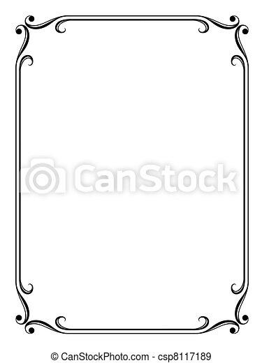 simple ornamental decorative frame - csp8117189