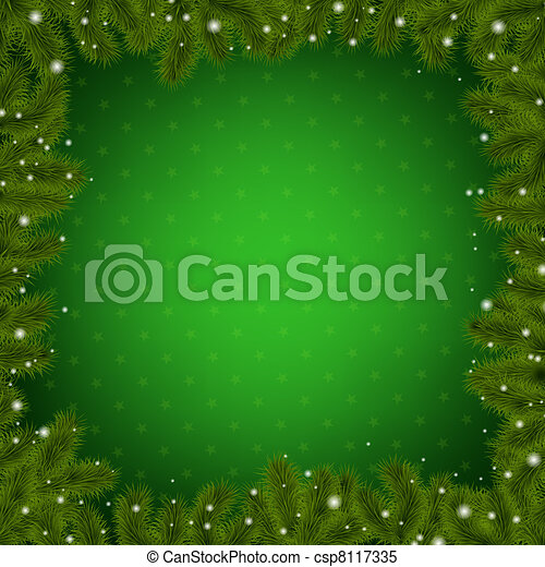With New Year Tree, Vector Illustration csp8117335 - Search Clip Art ...