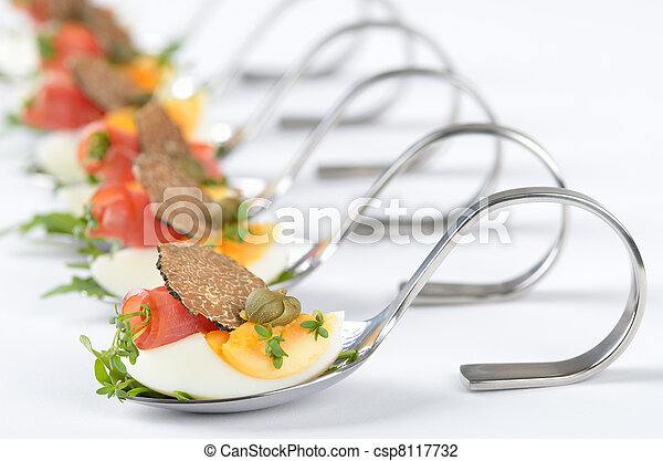 Appetizers with fresh truffles - csp8117732