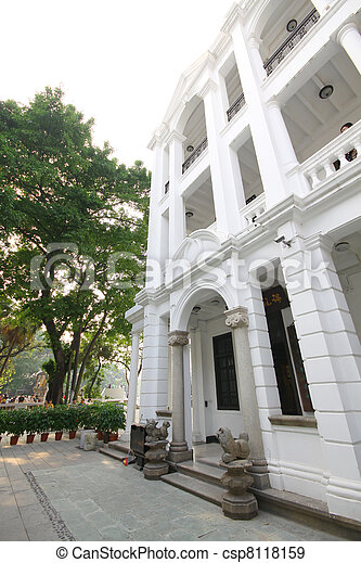 Westside mansion in Guangzhou, China - csp8118159