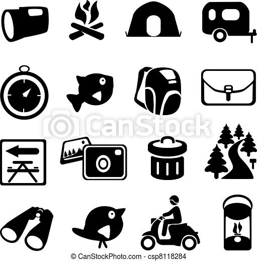 eps vector of camping icons camping icons csp8118284