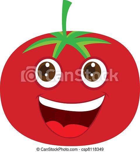 Vecteurs eps de tomate dessin anim mignon tomate dessin anim sur csp8118349 - Tomate dessin ...