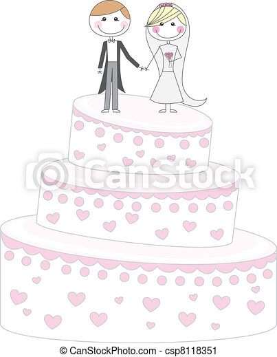 cake just married - csp8118351