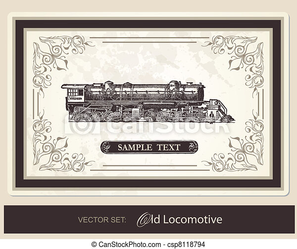 historical, trains - vector set - csp8118794