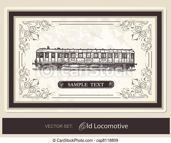 historical, trains - vector set - csp8118809