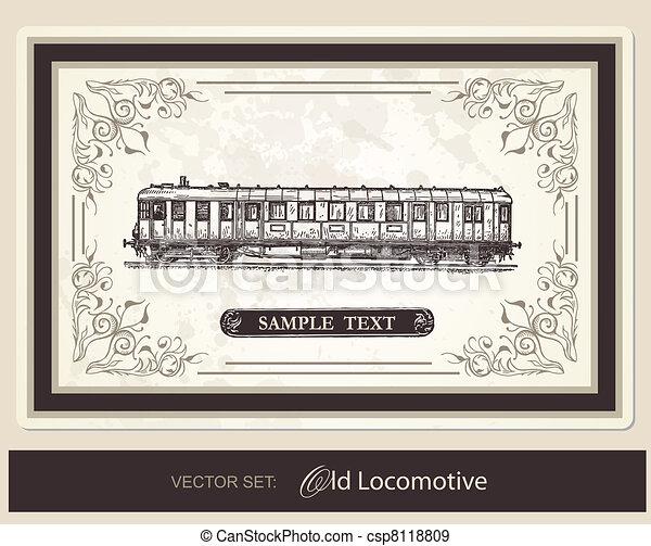 historical, trains - vector set - csp8118809