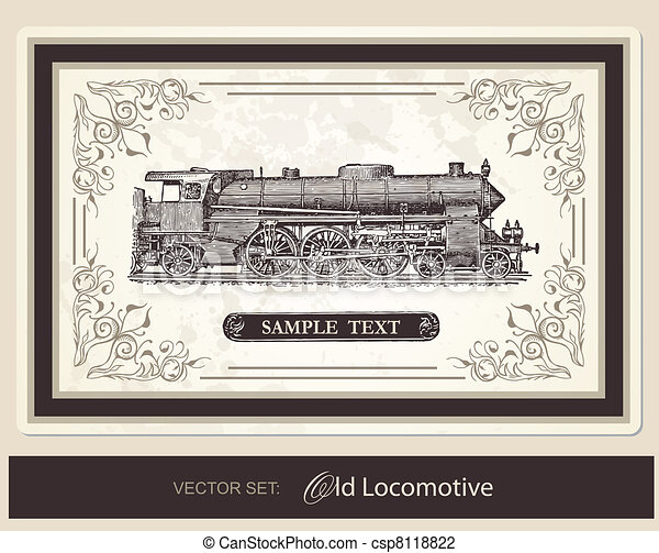 historical, trains - vector set - csp8118822