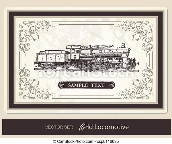 historical, trains - vector set - csp8118835