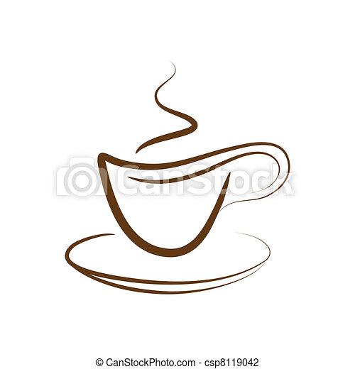 Vector cup off coffee - csp8119042