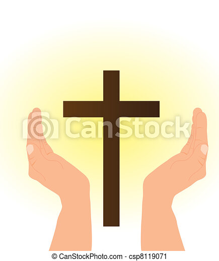 hand and cross - csp8119071