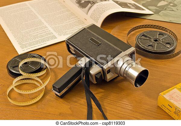 Vintage 8 MM Movie Camera with Film reels - csp8119303