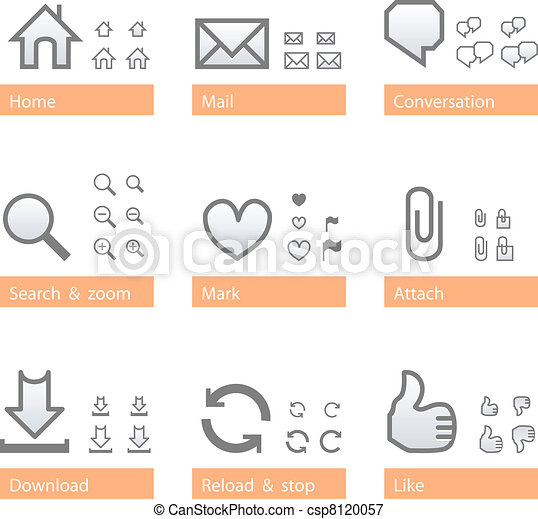 Universal software icon set. Web part - csp8120057