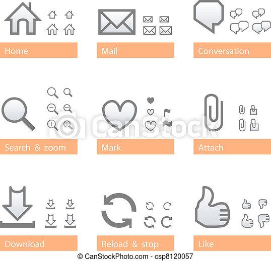 Universal software icon set. Web part - csp8120057