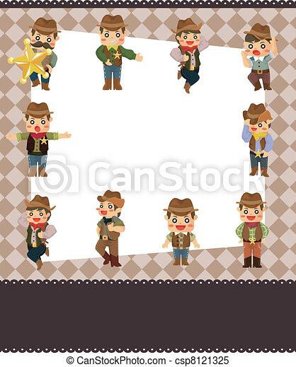cartoon cowboy card - csp8121325