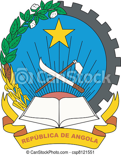 The national coat of arms of Angola - csp8121551