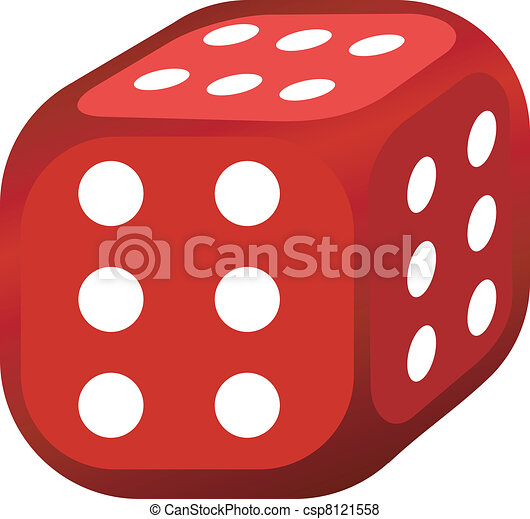 Vector illustration of abstract dice - csp8121558