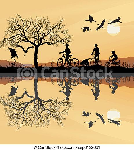 Family Trip to bike - csp8122061