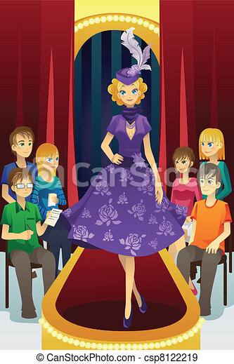 Fashion show Vector Clipart Illustrations. 10,560 Fashion show ...