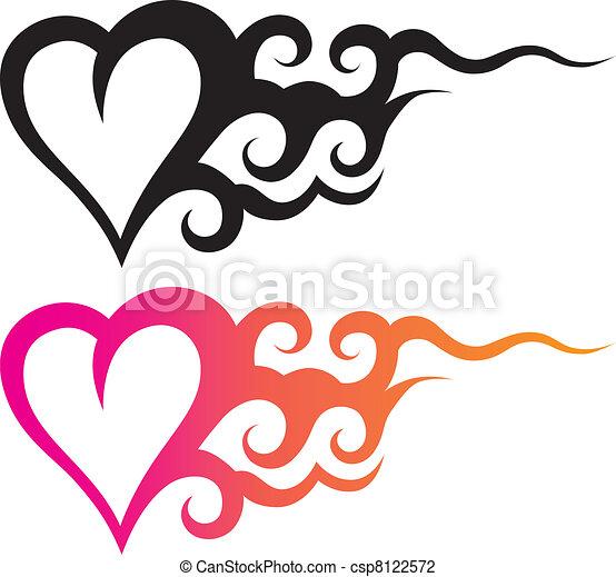 tattoo heart - csp8122572