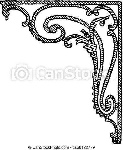 Iron stem, vintage engraving. - csp8122779