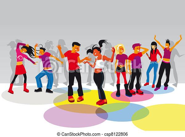 bailando adolescente